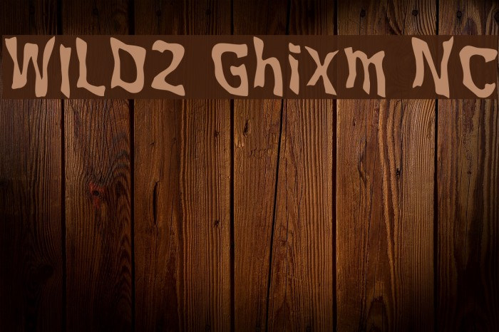 WILD2 Ghixm NC Font examples