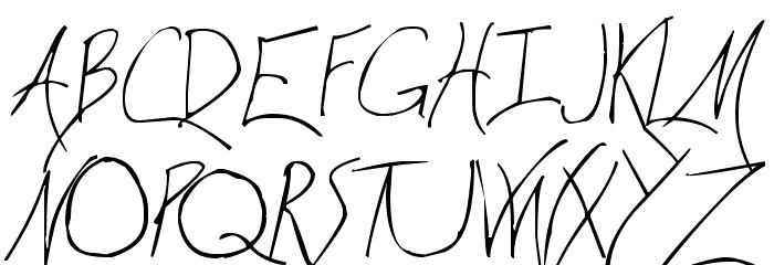 Wicca Script Font UPPERCASE