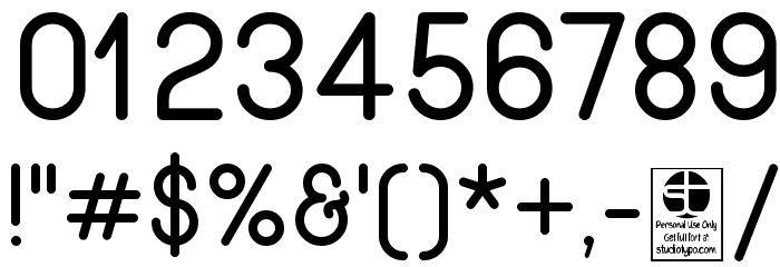 Wida Round Demo Font OTHER CHARS