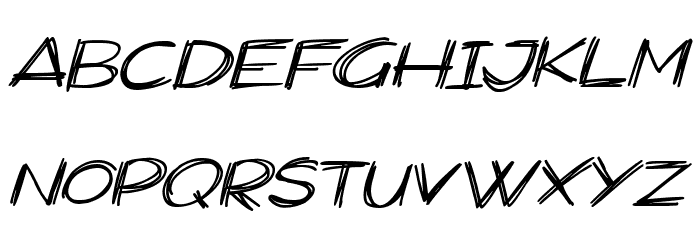 Widescratch Italic Font UPPERCASE