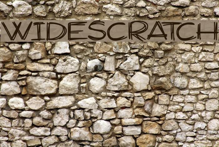 Widescratch Schriftart examples