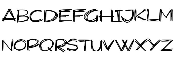 Widescratch Schriftart Kleinbuchstaben