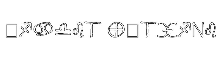 Widget Outline  Free Fonts Download