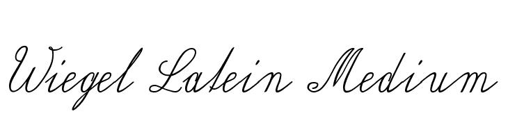 Wiegel Latein Medium  Free Fonts Download