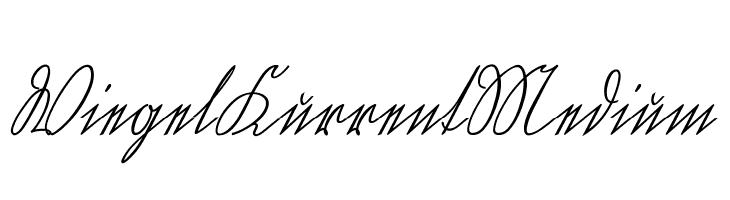 WiegelKurrentMedium  Frei Schriftart Herunterladen