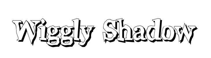 Wiggly Shadow  Скачать бесплатные шрифты