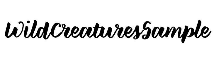 WildCreaturesSample  Frei Schriftart Herunterladen