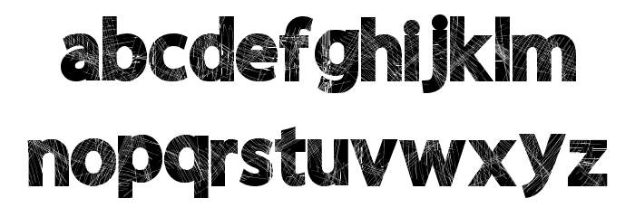 WildScratch Font LOWERCASE