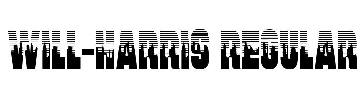 Will-Harris Regular  フリーフォントのダウンロード