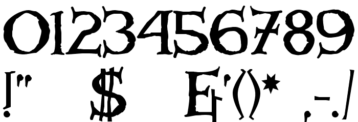 Windlass Font OTHER CHARS