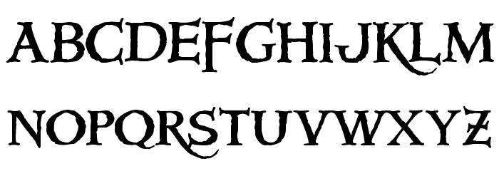 Windlass Font LOWERCASE
