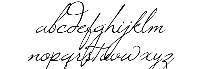Windsong Font LOWERCASE