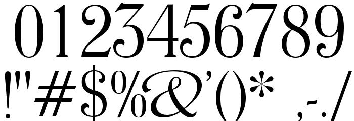 WindsorOpti-LightCondensed Font OTHER CHARS
