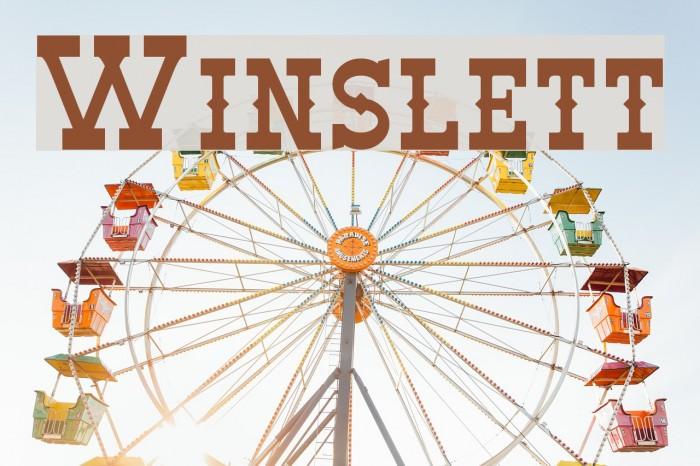 Winslett フォント examples