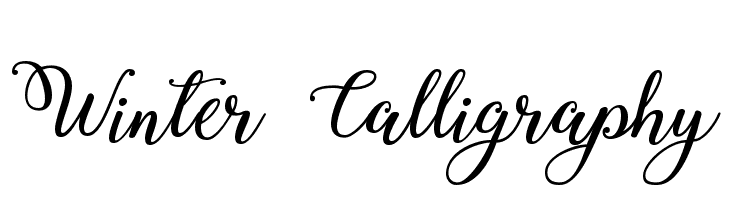 Winter Calligraphy  Free Fonts Download