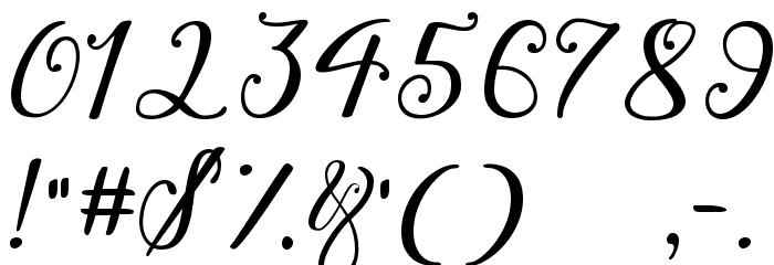 Winter Calligraphy Font Alte caractere