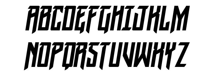 Winter Solstice Condensed Italic फ़ॉन्ट अपरकेस