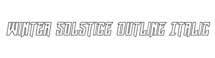 Winter Solstice Outline Italic फ़ॉन्ट