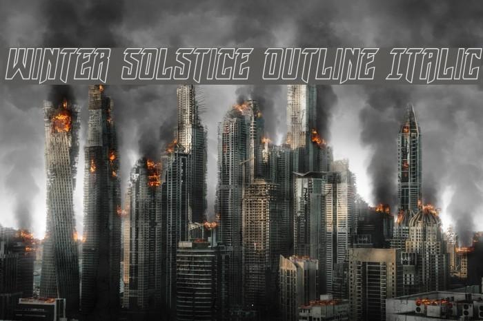 Winter Solstice Outline Italic फ़ॉन्ट examples