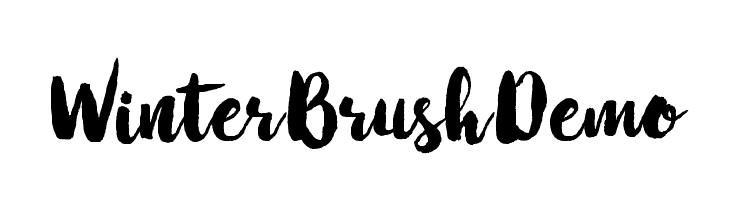 WinterBrushDemo  フリーフォントのダウンロード