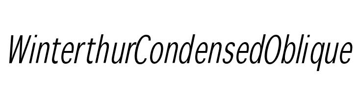 WinterthurCondensedOblique  Free Fonts Download
