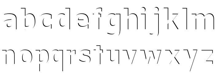Without a Trace Font LOWERCASE