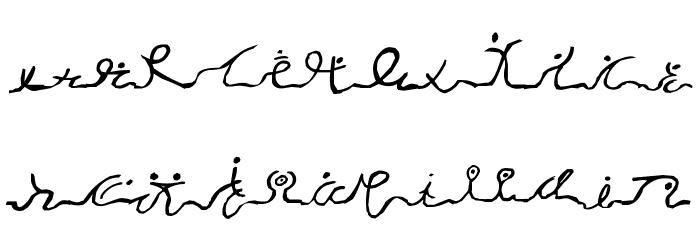 Wizard Runes-1 Font LOWERCASE