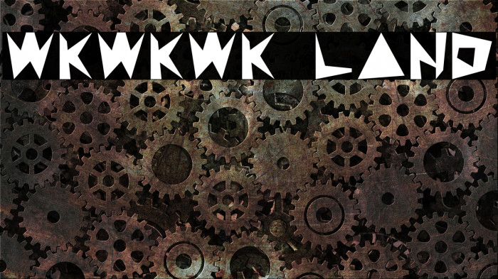 WKWKWK LAND Шрифта examples
