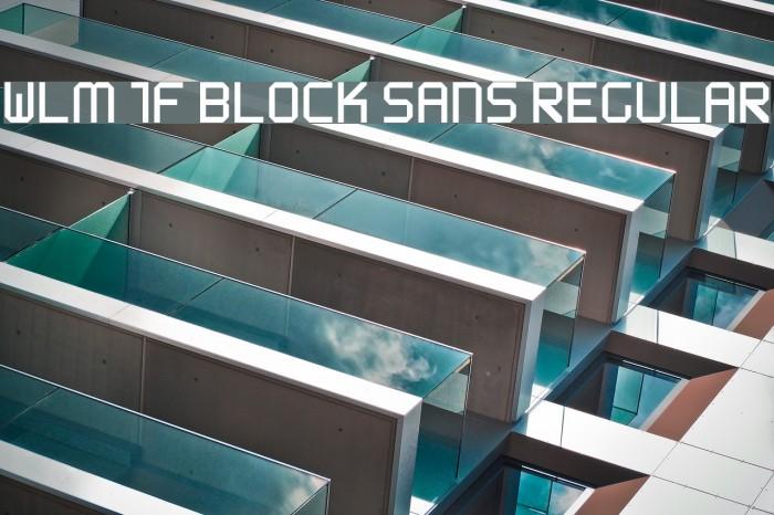 WLM 1F Block Sans Regular फ़ॉन्ट examples