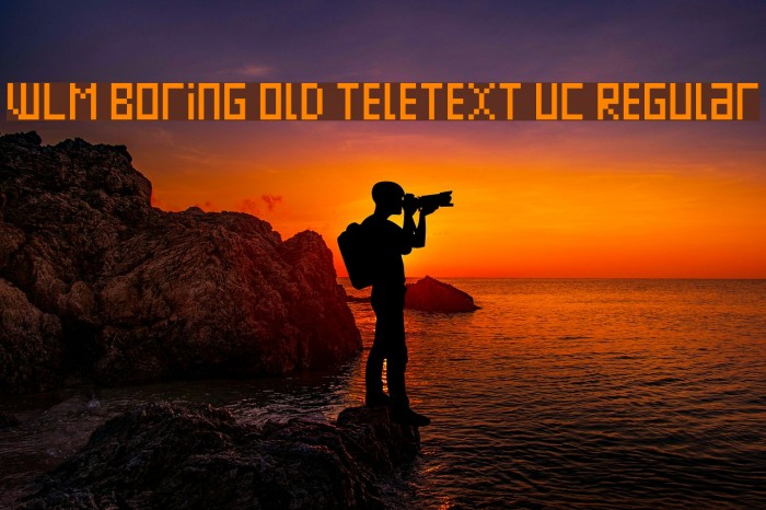 WLM Boring Old Teletext UC Regular Font examples