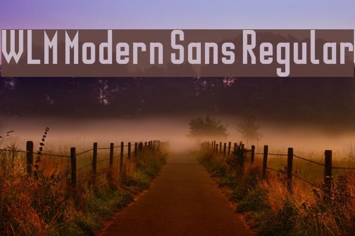 WLM Modern Sans Regular Font examples