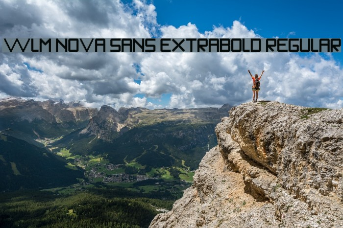 WLM Nova Sans ExtraBold Regular Fonte examples
