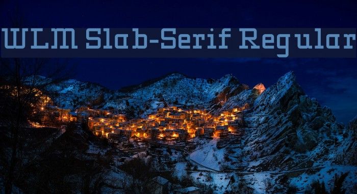 WLM Slab-Serif Regular Font examples