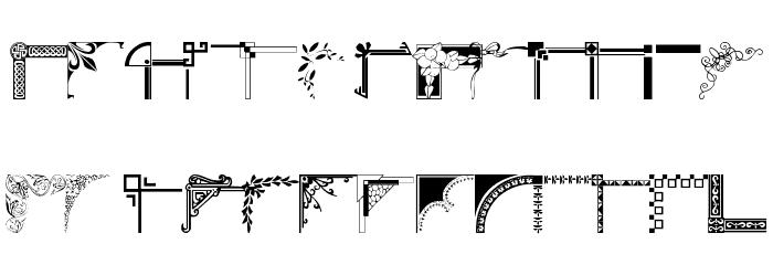 wmcorners1 Font LOWERCASE