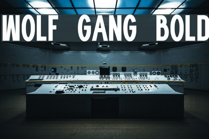 WOLF GANG BOLD Fonte examples