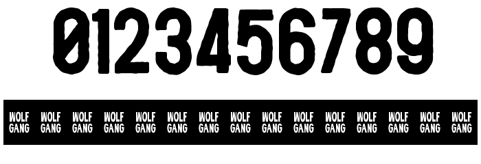 WOLF GANG ROUGH BOLD Fonte OUTROS PERSONAGENS