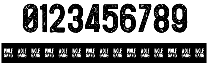 WOLF GANG ROUGH VINTAGE BOLD Fonte OUTROS PERSONAGENS