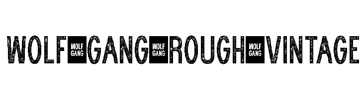WOLF GANG ROUGH VINTAGE Fonte