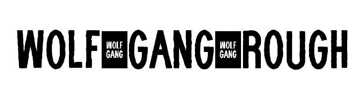 WOLF GANG ROUGH  Free Fonts Download