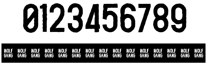 WOLF GANG ROUGH Font OTHER CHARS