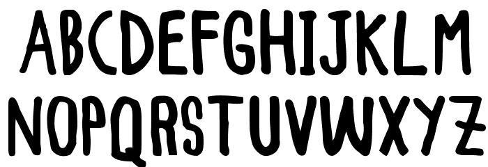 WOODCUTTER Simple Font Bold UPPERCASE