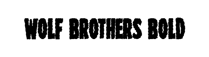 Wolf Brothers Bold  Free Fonts Download
