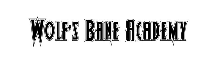 Wolf's Bane Academy  Скачать бесплатные шрифты
