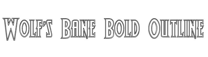 Wolf's Bane Bold Outline  Скачать бесплатные шрифты
