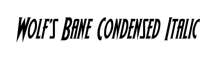 Wolf's Bane Condensed Italic  Скачать бесплатные шрифты