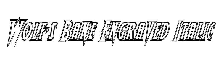 Wolf's Bane Engraved Italic  Скачать бесплатные шрифты