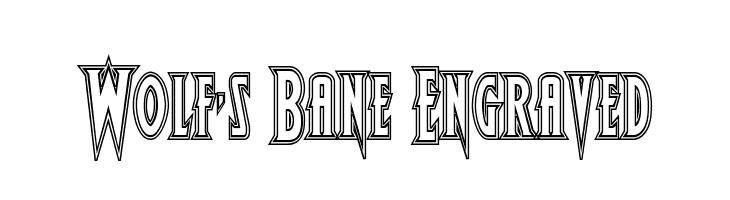 Wolf's Bane Engraved  Скачать бесплатные шрифты