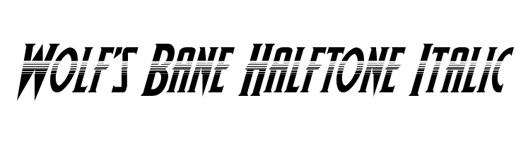 Wolf's Bane Halftone Italic  Скачать бесплатные шрифты