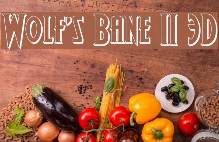 Wolf's Bane II 3D Polices examples