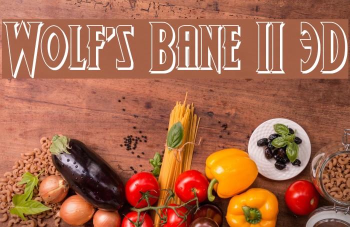 Wolf's Bane II 3D फ़ॉन्ट examples